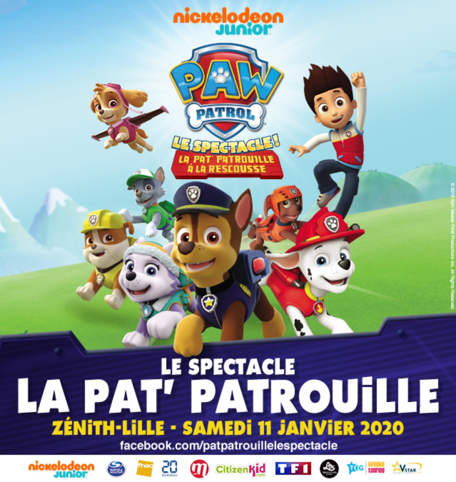 Pat Patrouille Le Spectacle Zenith De Lille