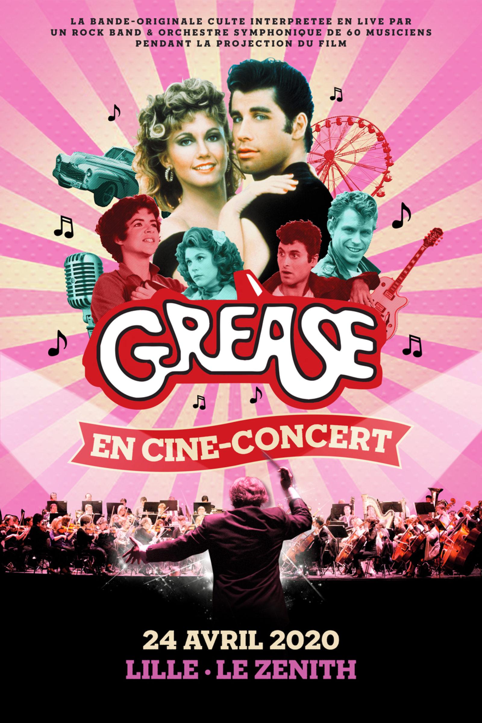 livraison gratuite nouveau design revendeur Grease - Ciné Concert - Zenith de Lille